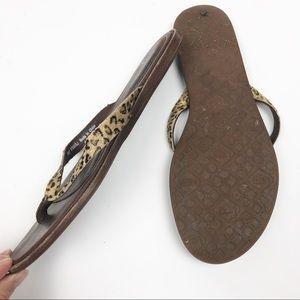 995cee538ea UGG Allaria Leopard Print Calf Hair Sandals Flip